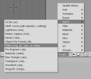 Blender : to import a path file